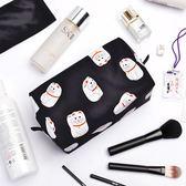 化妝包Kiitos東京印象尼龍防水化妝包創意卡通插畫便捷可愛多功能收納包 曼慕衣櫃