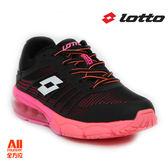 【LOTTO女款慢跑鞋PHOENIX KPU氣墊跑鞋-黑桃紅 (L5280)全方位跑步概念館