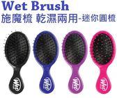 ~彤彤小舖~Wet Brush 施魔梳去結梳乾濕兩用梳輕鬆梳理糾結迷你圓形髮梳攜帶方便 包