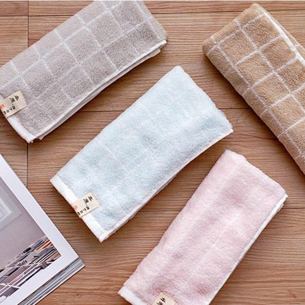源于自然格子毛巾(1628-1)1入【小三美日】顏色隨機出貨