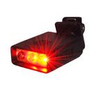 迷你夾式高亮度3Led閃爍紅光警示燈 小...