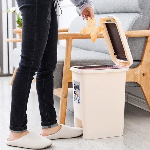 腳踏帶蓋垃圾桶家用有蓋創意圾衛生間客廳分類式廚房廁所腳踩大號7 幸福第一站
