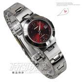 CASIO卡西歐LTP-1241D-4A2簡約指針錶 深紅色面 33mm 女錶 LTP-1241D-4A2DF 防水手錶 鋼錶帶款