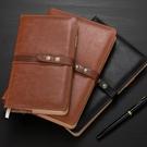 密碼本 A6皮面筆記本商務記事本隨身小筆記本子加厚辦公用品工作會議記錄本