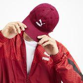 Puma 酒紅 刺繡logo 棒球帽 老帽 可調 男女皆可戴 (布魯克林) 02148412