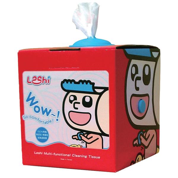 Leshi樂適 - 嬰兒乾濕兩用布巾 抽取式單盒入 (100抽)
