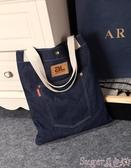 新品牛仔包原創時尚女包個性側背休閒包牛仔布包小清新學生學院書包購物袋潮
