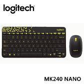 【限時至1024】 羅技 Logitech MK240 Nano 無線鍵鼠組 - 黑色/黃邊