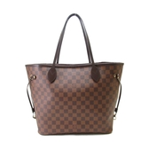 LOUIS VUITTON LV 路易威登 棋盤格肩背包 購物袋 Neverfull MM N51105 【BRAND OFF】