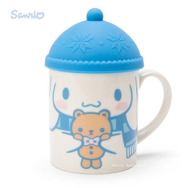 日本限定 大耳狗 針織帽造型杯蓋 馬克杯組