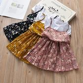 女童洋裝夏裝韓版洋氣童裝兒童夏裝公主裙碎花裙假兩件 韓語空間