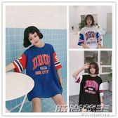 中長款棒球服短袖t恤女夏寬鬆韓版潮 時尚教主