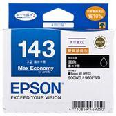 EPSON 143高印量XL墨水匣 T143151 (黑色雙包裝)