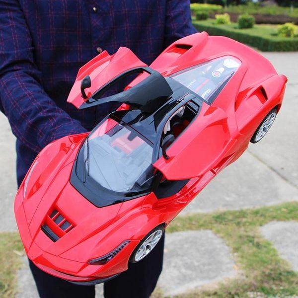 超大可充電一鍵開門方向盤遙控汽車漂移耐摔男孩兒童玩具賽車模型 滿598元立享89折