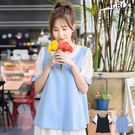 棉衫--極致性感甜美風情圓領交叉美背格紋綁帶袖棉衫(黑.藍XL-5L)-U399眼圈熊中大尺碼