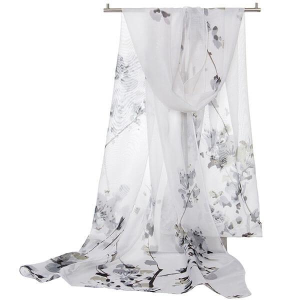 雪紡 四季唯美印花絲巾圍巾 遮陽 獨具衣格