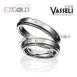 VASSELI ◤真愛奇蹟◢ 鎢鋼鑽石戒(男)