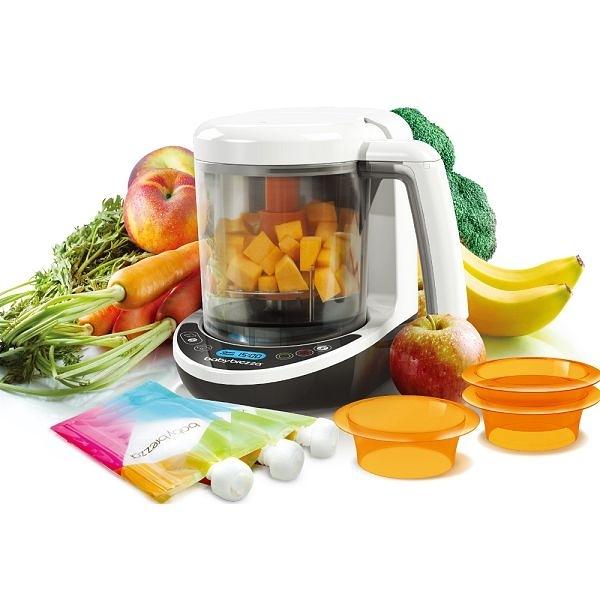 【加贈蒸鍋+dapple洗衣片32片】美國Baby Brezza 副食品自動料理機/調理機-數位版