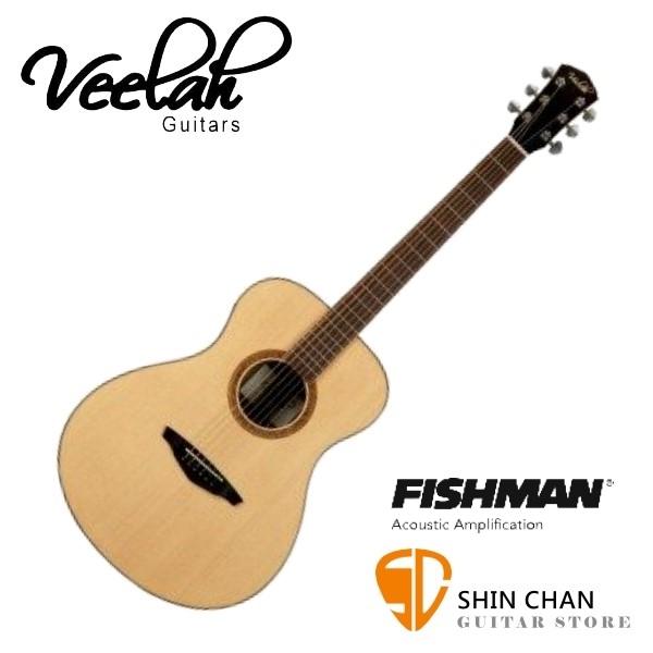 Veelah吉他 V3-FE 可插電單板民謠吉 非洲黑桃木/-附贈Veelah木吉他袋/V3專用(全配件)台灣公司貨