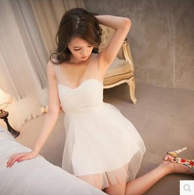 夜店女裝夏性感氣質網紗蓬蓬裙小洋裝禮服夜場工服抹胸洋裝連身裙 森雅誠品