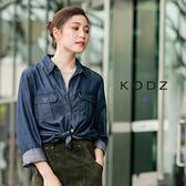東京著衣【KODZ】歐美流行仿牛仔兩穿設計襯衫-S.M.L(172369)