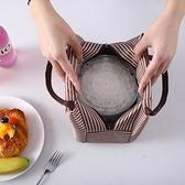 便當包 飯盒包手提包防水女包手拎便當包飯盒袋便當盒帶飯包帆布保溫袋子 夢藝家