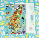【收藏天地】插畫明信片★立體明信片-Taiwan MAP/ 送禮 旅遊紀念