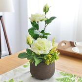 【雙11 大促】仿真花玫瑰套裝花藝花卉盆栽花瓶假花裝飾花絹花客廳室內餐桌擺件