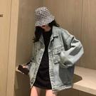 牛仔外套女 網紅牛仔衣外套女春百搭2021新款韓版寬鬆復古港味上衣服【快速出貨八折鉅惠】