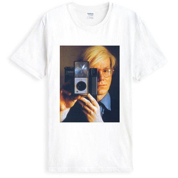 Andy Warhol-Camera短袖T恤-白色 安迪沃荷普普藝術POP街頭紐約設計插畫潮流相片照片藝術