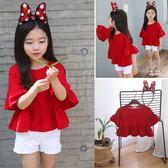 夏季新款短袖T恤兒童純棉半袖娃娃襯衫QQ296『優童屋』
