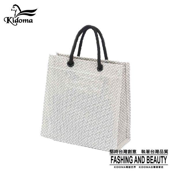 手提袋-編織袋(S)-灰白-03C
