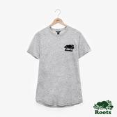 女裝Roots- 結粒紗短袖T恤 - 灰色
