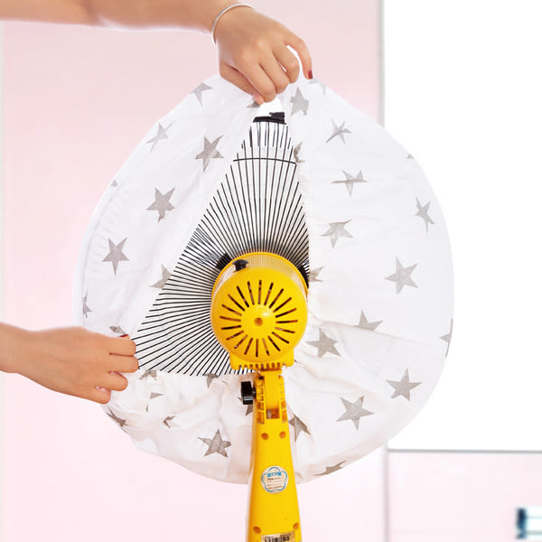 Qmishop 北歐風時尚簡約布藝風扇罩 五角星  十字架  波點【QJ1910】