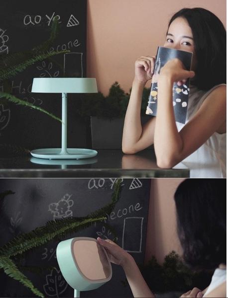 【最超值 保固一年】MUID 化妝鏡 化妝鏡檯燈 ON/OFF 開關燈 梳妝鏡 公主鏡 檯燈 床頭燈