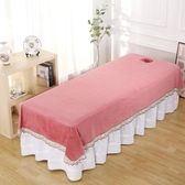 水晶絨床單美容床床單美容院專用美容床單定做帶洞YYJ 快速出貨