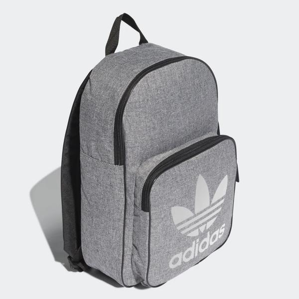 Adidas ORIGINALS CLASSIC CASUAL 背包 後背包 休閒 三葉草 灰【運動世界】 DV2391
