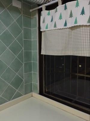 可愛時尚田園全棉麻門簾5 廚房半簾 咖啡簾 窗幔簾 穿杆簾 (140cm寬*50cm高) 風水簾