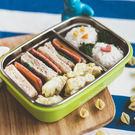 【美國 Kangovou】小袋鼠不鏽鋼安全寶寶餐盒 - 青蘋綠
