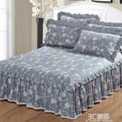 純棉床裙式單件床罩全棉床套床笠保護套席夢思防塵罩1.8m1.5米床 3C優購