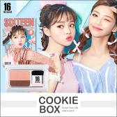 韓國 16 brand 迷你雜誌雙色眼影盤 2.5g 眼妝書 漸層 人魚櫻花  #4 Hey My Day *餅乾盒子*