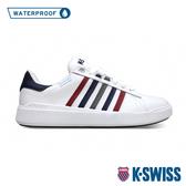 K-SWISS Pershing Court Light WP防水時尚運動鞋-男-白/藍/紅
