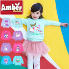 Amber  長袖上衣  T桖  刷毛上衣  圓領  女童  甜美可愛  多圖案