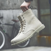 馬丁靴男高筒英倫真皮中筒工裝靴潮流沙漠靴男士靴子2019新款軍靴
