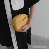 貝殼包小香風包包女熱銷上新款小清新菱格鍊條包網紅質感單肩斜背貝殼包  【快速出貨】