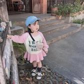 兒童連衣裙 abao女童連衣裙2020春季新款兒童洋氣寬鬆長袖兒童棉質時髦衛衣裙【快速出貨】