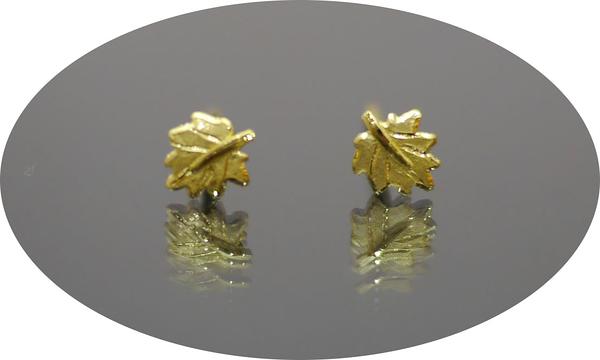 gold 黃金 耳環 金飾 保證卡 重量0.17錢 [ ge 040 ]