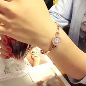 可愛簡約氣質鋯石玫瑰金手鍊手鐲女韓版甜美學生手環閨蜜禮物 〖korea時尚記〗