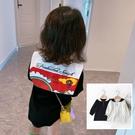 *╮小衣衫S13╭*女童秋款大翻領彩色扣子長袖連身裙洋裝1080944