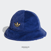 ADIDAS 漁夫帽 寶藍 絨毛 金標 帽 (布魯克林) H34560